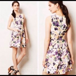 Anthropologie Floral Dress, Size 8
